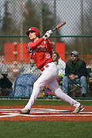 March 22, 2008: The Newport Knights' Collin Bennett watches his two-run blast clear the left field fence against Tumwater High School in a non-league game held at Newport High School in Bellevue, Washington.