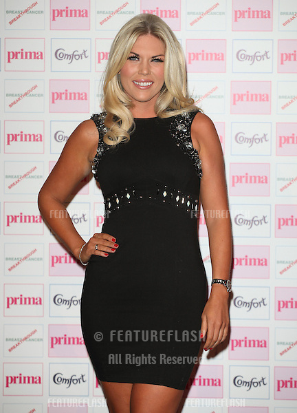 Frankie Essex arriving for the Prima Comfort Fashion Awards 2012, At Evolution, Battersea Park, London. 13/09/2012 Picture by: Alexandra Glen / Featureflash