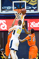 Morgantown, WV - NOV 18, 2017: West Virginia Mountaineers forward Maciej Bender (25) goes up for a lay up during game between West Virginia and Morgan State at WVU Coliseum Morgantown, West Virginia. (Photo by Phil Peters/Media Images International)