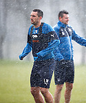 Lee Wallace battered by freezing hailstones