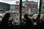 Westfield Shopping Centre Stratford City east London Uk Busy crowded with Olympic tourists 2012