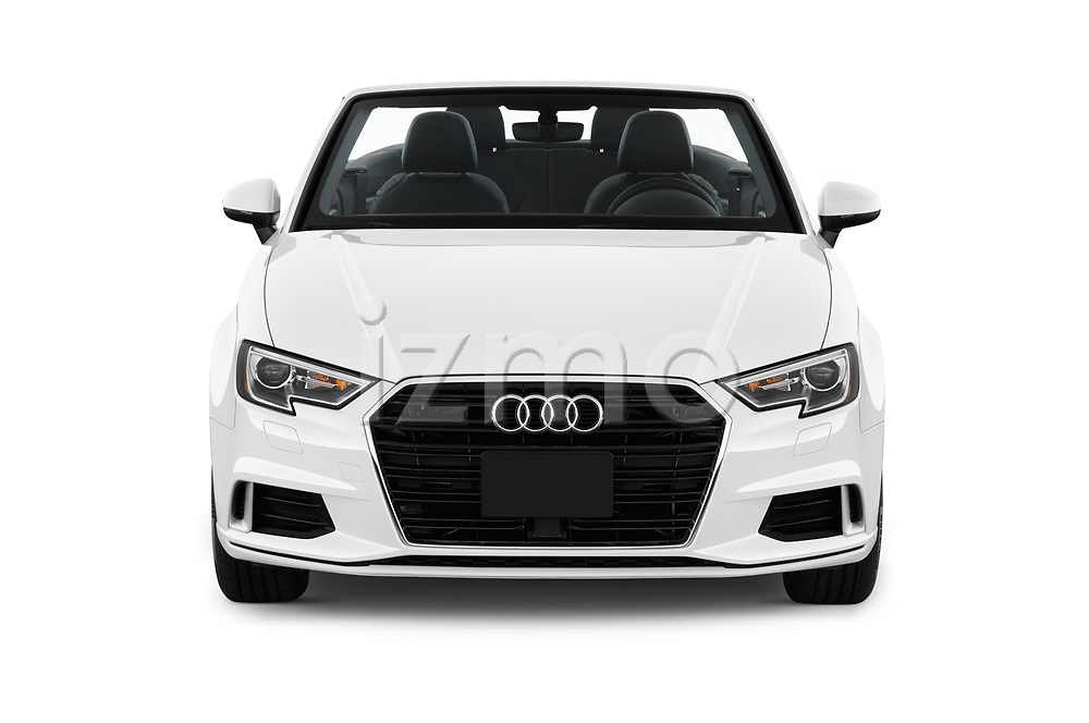 Car photography straight front view of a 2018 Audi A3 Premium 2 Door Convertible