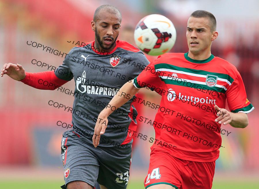 Fudbal Jelen Super League season 2014-2015 <br /> Donji Srem v Crvena Zvezda<br /> Ivan Lakicevic (R) and Joshua Parker<br /> Novi Sad, 29.04.2015.<br /> foto: Srdjan Stevanovic/Starsportphoto&copy;