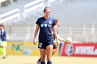 Cary, North Carolina  - Saturday August 19, 2017: Ashley Hatch prior to a regular season National Women's Soccer League (NWSL) match between the North Carolina Courage and the Washington Spirit at Sahlen's Stadium at WakeMed Soccer Park. North Carolina won the game 2-0.