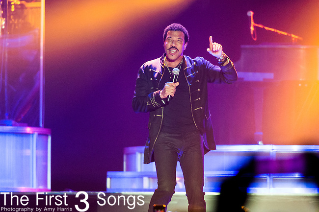 Lionel Richie performs at the 2014 Essence Festival at the Mercedes-Benz Superdome in New Orleans, Louisiana.