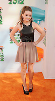 LOS ANGELES, CA - MARCH 31: Kaitlyn Dever  arrives at the 2012 Nickelodeon Kids' Choice Awards at Galen Center on March 31, 2012 in Los Angeles, California.