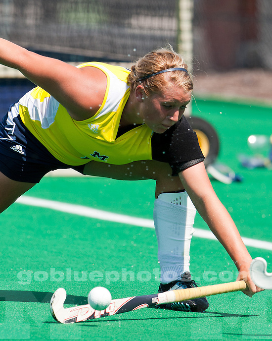 The No. 9-ranked University of Michigan field hockey team fell to No. 2-ranked North Carolina, 5-0, during the ACC/Big Ten Challenge at Phyllis Ocker Field in Ann Arbor, Mich. on August 27, 2011.