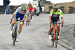 Guillaume Martin (FRA) Wanty-Gobert Cycling Team attacks in the last 2km on the slopes of Mount Etna during Stage 4 of Il Giro di Sicilia 2019 running 119km from Giardini Naxos to Mount Etna (Nicolosi), Italy. 6th April 2019.<br /> Picture: LaPresse/Fabio Ferrari | Cyclefile<br /> <br /> All photos usage must carry mandatory copyright credit (&copy; Cyclefile | LaPresse/Fabio Ferrari)