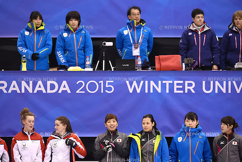 Japan team group, <br /> FEBRUARY 10, 2015 - Curling : <br /> 27th Winter Universiade Granada 2015 <br /> between Japan Women's and United Kingdom Women's <br /> at Fuentenueva Pavilion, Granada, Spain. <br /> (Photo by AFLO SPORT) [1220]