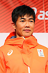 Yoshihiro Nitta, <br /> NOVEMBER 1, 2017 : <br /> A press conference about presentation of Japan national team official sportswear <br /> for the 2018 PyeongChang Winter Olympic and Paralympic Games, in Tokyo, Japan. <br /> (Photo by Naoki Nishimura/AFLO)