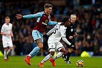 Jeff Hendrick of Burnley and Renato Sanches of Swansea City during the Premier League match between Burnley and Swansea City at Turf Moor, Burnley, England, UK. Saturday 18 November 2017