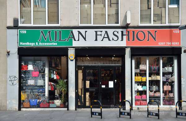 Milan Fashion wholesaler in Commercial Road, London, UK.