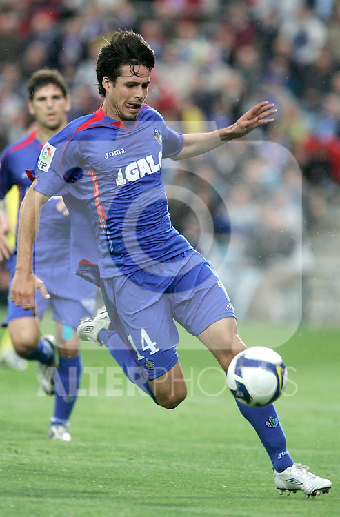 Getafe's Manuel del Moral during La Liga match, April 18, 2009. (ALTERPHOTOS/Alvaro Hernandez).