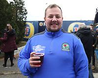 Blackburn Rovers fans in  the fan zone <br /> <br /> Photographer Stephen White/CameraSport<br /> <br /> The EFL Sky Bet Championship - Blackburn Rovers v Bristol City - Monday 17th April 2017 - Ewood Park - Blackburn<br /> <br /> World Copyright &copy; 2017 CameraSport. All rights reserved. 43 Linden Ave. Countesthorpe. Leicester. England. LE8 5PG - Tel: +44 (0) 116 277 4147 - admin@camerasport.com - www.camerasport.com