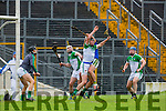 Kerry full forward Mikey Boyle  flicks the high ball towards Limerick's goal during their NHL Div 1B clash in Fitzgerald Stadium on Sunday