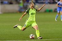 Bridgeview, IL - Wednesday August 16, 2017: Merritt Mathias during a regular season National Women's Soccer League (NWSL) match between the Chicago Red Stars and the Seattle Reign FC at Toyota Park. The Seattle Reign FC won 2-1.