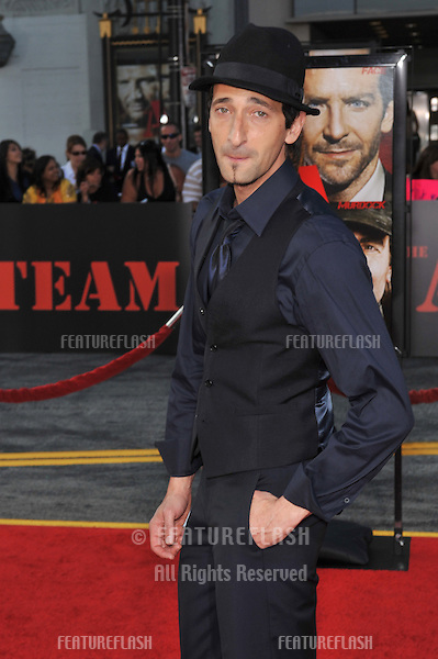 """Adrien Brody at the Los Angeles premiere of """"The A-Team"""" at Grauman's Chinese Theatre, Hollywood..June 3, 2010  Los Angeles, CA.Picture: Paul Smith / Featureflash"""