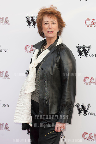 Maureen Lipman arriving for the Press Night of Cantina at Jubilee Gardens in London. 21/05/2012  Picture by: Simon Burchell / Featureflash