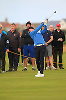 Sandy Scott (GB&I) on the 2nd during the Foursomes at the Walker Cup, Royal Liverpool Golf CLub, Hoylake, Cheshire, England. 07/09/2019.<br /> Picture Thos Caffrey / Golffile.ie<br /> <br /> All photo usage must carry mandatory copyright credit (© Golffile | Thos Caffrey)