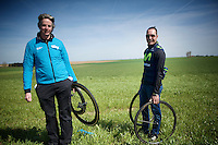 m&eacute;cano-de-luxe for Team Movistar: non other than cycling legend Erik Zabel was there to help them out (as a liaison for team sponsor Canyon bike)<br /> <br /> 113th Paris-Roubaix 2015