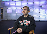Ashkan Mortazavi '17, photographed Jan. 25, 2017 in Johnson Hall.<br /> (Photo by Marc Campos, Occidental College Photographer)
