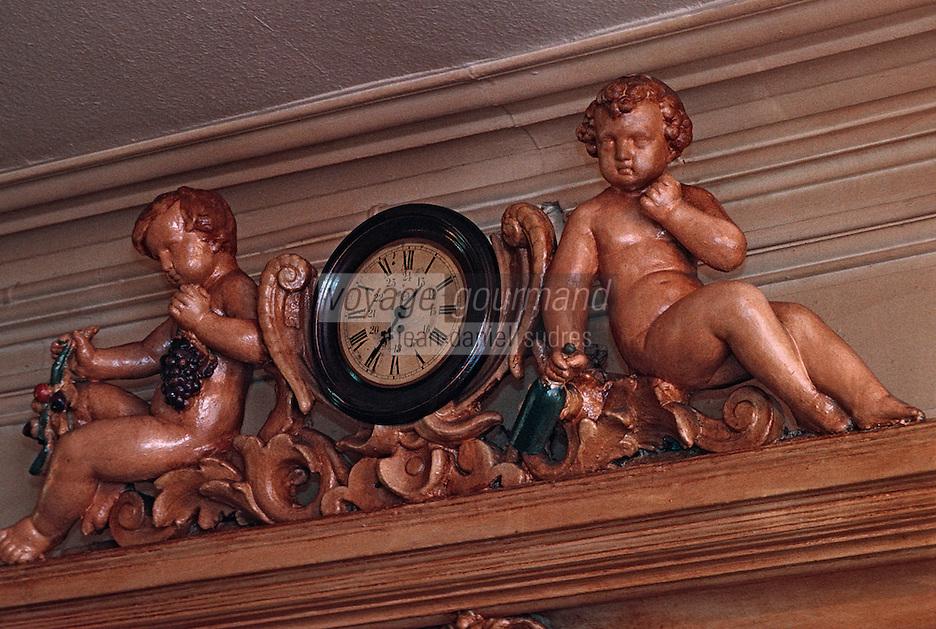 Europe/France/Rhône-Alpes/69/Rhône/Lyon: Bouchon lyonnai - Détail de la décoration de la salle