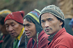 Tamang men in the village of Gatlang, in the Rasuwa District of Nepal near the country's border with Tibet.