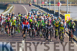 Action from the Lacey cup cycle race in Tralee on Sunday.