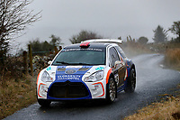 2nd February 2020; Galway, Galway, Ireland; Irish Tarmac Rally Championship, Galway International Rally; Cal McCarthy and Derek O'Brien (Citroen DS3 R5) in action