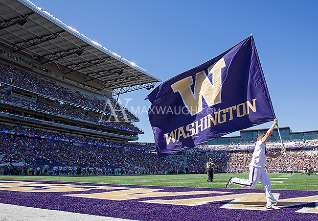 The flag comes out after another Husky touchdown.