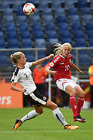 20170803 - BREDA , NETHERLANDS : Danish Pernille Harder (R) and Austrian Carina Wenninger (L) pictured during the female soccer game between Denmark and Austria  , the semi final at the Women's Euro 2017 , European Championship in The Netherlands 2017 , Thursday 3th of August 2017 at Stadion Rat Verlegh in Breda , The Netherlands PHOTO SPORTPIX.BE | DIRK VUYLSTEKE