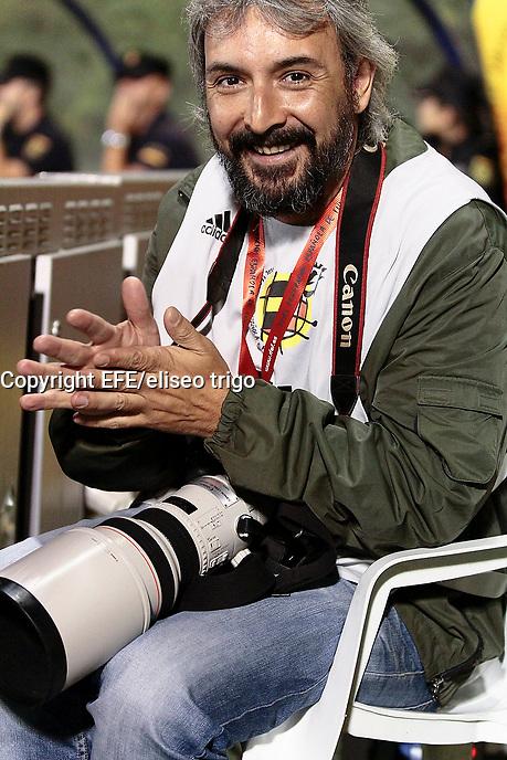 """fecha:05-09-2011 En Lugo en el """"Anxo Carro"""" partido de clasificacion para la Eurocopa Sub-21. España Sub-21- Georgia. Foto: EFE/eliseo trigo"""