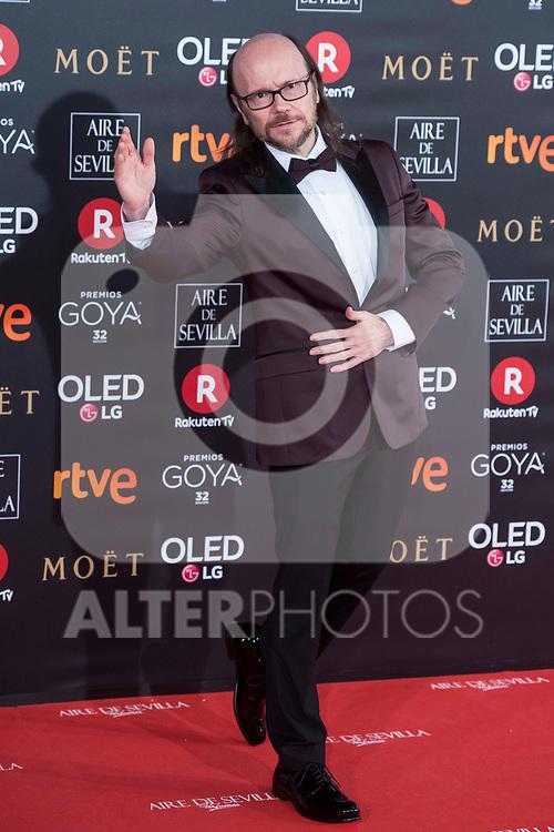Santiago Segura attends red carpet of Goya Cinema Awards 2018 at Madrid Marriott Auditorium in Madrid , Spain. February 03, 2018. (ALTERPHOTOS/Borja B.Hojas)