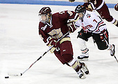 Allie Thunstrom (Boston College - 9), Missy Elumba (Northeastern - 7) - The Boston College Eagles defeated the Northeastern University Huskies 3-1 in the opening round of the Beanpot on Tuesday, February 3, 2009, at Matthews Arena in Boston, Massachusetts.
