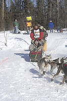Rich Corcoran Anchorage Start Iditarod 2008.