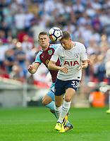 Tottenham's Ben Davies and Burnley Johann Berg Gudmundsson  during the Premier League match between Tottenham Hotspur and Burnley at White Hart Lane, London, England on 27 August 2017. Photo by Andrew Aleksiejczuk / PRiME Media Images.