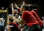 SIOUX FALLS, SD - MARCH 19: The Central Missouri bench celebrates a basket against Lubbock Christian during their quarterfinal game at the 2018 Elite Eight Women's NCAA DII Basketball Championship at the Sanford Pentagon in Sioux Falls, SD. (Photo by Dave Eggen/Inertia)