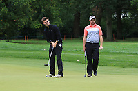Kristian Krogh Johannessen (NOR) and Max Orrin (ENG) on the 9th fairway during Round 2 of the Bridgestone Challenge 2017 at the Luton Hoo Hotel Golf &amp; Spa, Luton, Bedfordshire, England. 08/09/2017<br /> Picture: Golffile | Thos Caffrey<br /> <br /> <br /> All photo usage must carry mandatory copyright credit     (&copy; Golffile | Thos Caffrey)