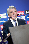 Atletico de Madrid's President Enrique Cerezo. December 31, 2016. (ALTERPHOTOS/Acero)