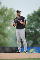 Erie Sea Wolves pitcher Tommy Collier (35) during game against the Trenton Thunder at ARM & HAMMER Park on May 15, 2014 in Trenton, NJ.  Erie defeated Trenton 4-2.  (Tomasso DeRosa/Four Seam Images)