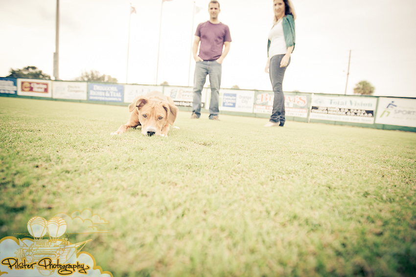 Tori Joel and Matt Untiet during their engagement session on Sunday, October 9, 2011 at Melching Field at Conrad Park in DeLand, Florida. (Chad Pilster of http://www.PilsterPhotography.net)