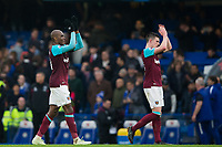 West Ham United's Angelo Ogbonna applauds the fans at the final whistle <br /> <br /> Photographer Craig Mercer/CameraSport<br /> <br /> The Premier League - Chelsea v West Ham United - Sunday 8th April 2018 - Stamford Bridge - London<br /> <br /> World Copyright &copy; 2018 CameraSport. All rights reserved. 43 Linden Ave. Countesthorpe. Leicester. England. LE8 5PG - Tel: +44 (0) 116 277 4147 - admin@camerasport.com - www.camerasport.com