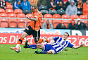 :: DUNDEE UTD'S JOHNNY RUSSELL IS FOULED BY JAMES FOWLER :: .23/04/2011   Copyright  Pic : James Stewart.sct_jsp025_dundee_utd_v_kilmarnock .James Stewart Photography 19 Carronlea Drive, Falkirk. FK2 8DN      Vat Reg No. 607 6932 25.Telephone      : +44 (0)1324 570291 .Mobile              : +44 (0)7721 416997.E-mail  :  jim@jspa.co.uk.If you require further information then contact Jim Stewart on any of the numbers above.........