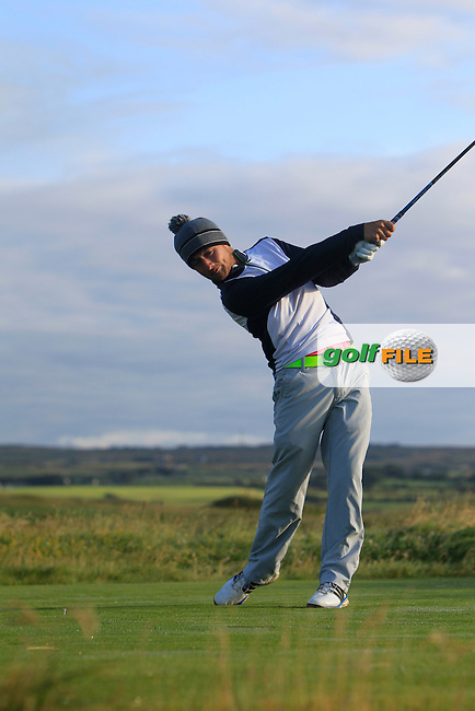 Jonathan Breen (Kirkistown Castle) on the 2nd tee during Matchplay Round 1 of the South of Ireland Amateur Open Championship at LaHinch Golf Club on Friday 24th July 2015.<br /> Picture:  Golffile | Thos Caffrey