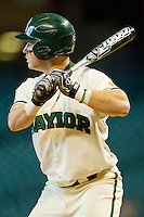 Joey Hainsfurther #1 of the Baylor Bears at bat against the Utah Utes at Minute Maid Park on March 5, 2011 in Houston, Texas.  Photo by Brian Westerholt / Four Seam Images