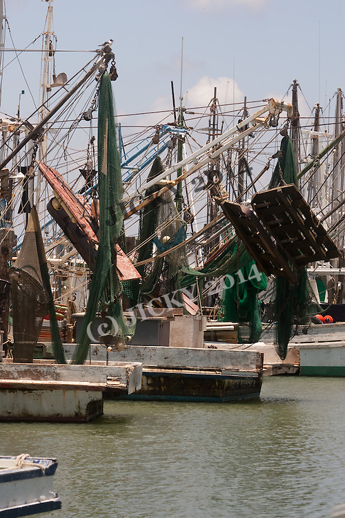 Galveston Island - Fishing boats.