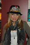"""One Life To Live's Kristen Alderson trie on Jane Elissa's many Hats for Health on September 10, 2010 at the New York Marriott Marquis, New York, New York as Daytime's TV and  Broadway stars get involved in helping launch Jane Elissa's """"Hats For Health"""" to promote awareness and to raise money for Leukemia and cancer research.   (Photo by Sue Coflin/Max Photos)"""