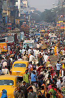 Streets of the Kolay market bustle with people and traffic in central Kolkata.<br /> <br /> To license this image, please contact the National Geographic Creative Collection:<br /> <br /> Image ID: 1925823 <br />  <br /> Email: natgeocreative@ngs.org<br /> <br /> Telephone: 202 857 7537 / Toll Free 800 434 2244<br /> <br /> National Geographic Creative<br /> 1145 17th St NW, Washington DC 20036