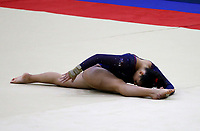 BARRANQUILLA - COLOMBIA, 21-07-2018: C Godoy, Panama, durante su participación en gimnasia mujeres modalidad piso como parte de los Juegos Centroamericanos y del Caribe Barranquilla 2018. /  C Godoy, Panama, during his participation in gymnastics women's floor category as a part of the Central American and Caribbean Sports Games Barranquilla 2018. Photo: VizzorImage / Cont