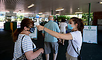 July 18, 2020: In light of the COVID-19 epidemic, extra health precautions, such as temperature scans at the entrance, are being taken on Haskell Invitational Day at Monmouth Park Racecourse in Oceanport, New Jersey. Charles Toler/Eclipse Sportswire/CSM